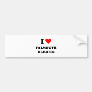 I Love Falmouth Heights Car Bumper Sticker