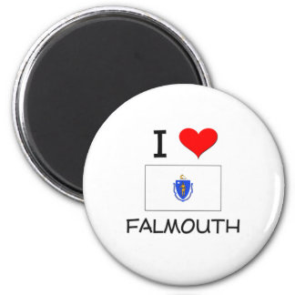 I Love Falmouth Massachusetts Magnet