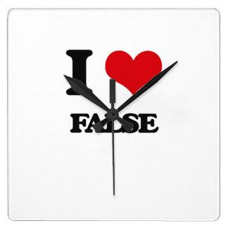I love False Square Wallclocks
