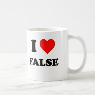 I Love False Classic White Coffee Mug