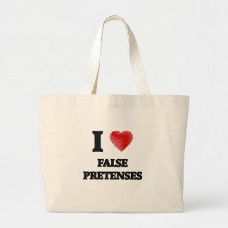 I love False Pretenses Large Tote Bag