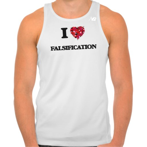 I Love Falsification Shirt Tank Tops, Tanktops Shirts