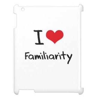 I Love Familiarity iPad Cover