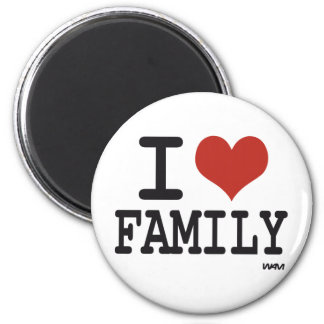 I love family 2 inch round magnet