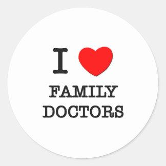 I Love Family Doctors Sticker