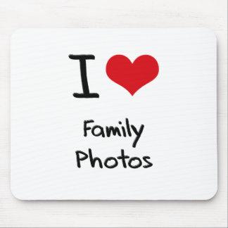 I Love Family Photos Mousepad