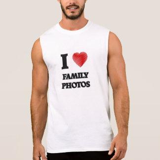 I love Family Photos Sleeveless Shirt