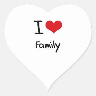 I Love Family Heart Sticker