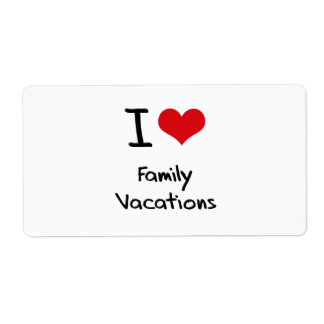 I Love Family Vacations Shipping Label