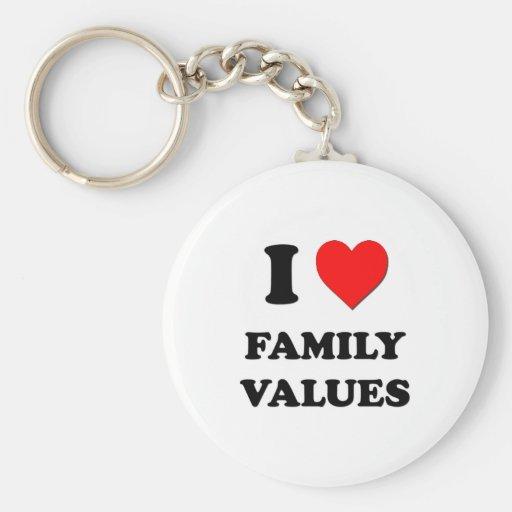 I Love Family Values Key Chain