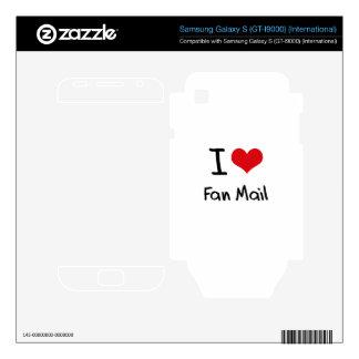 I Love Fan Mail Samsung Galaxy S Skin