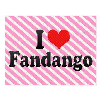 I Love Fandango Postcard