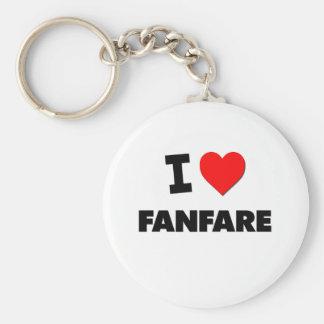 I Love Fanfare Keychain