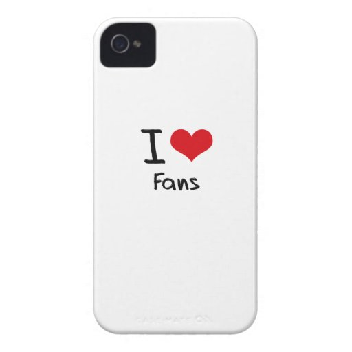 I Love Fans iPhone 4 Case-Mate Cases