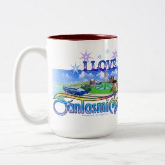 I Love FantasmicWorld Theme Park Mugs