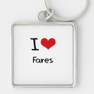 I Love Fares Keychain