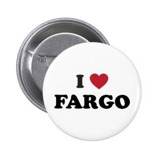 I Love Fargo North Dakota Pinback Buttons