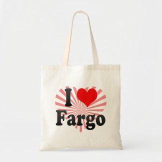 I Love Fargo, United States Tote Bags
