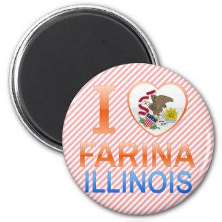 I Love Farina, IL Refrigerator Magnet