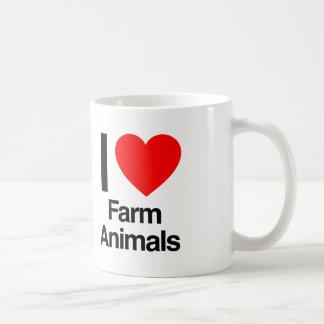 i love farm animals coffee mug