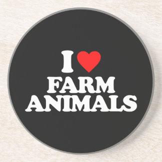 I LOVE FARM ANIMALS DRINK COASTERS
