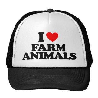 I LOVE FARM ANIMALS MESH HATS