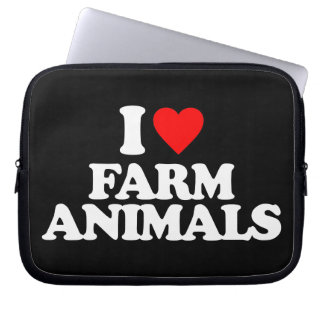 I LOVE FARM ANIMALS LAPTOP COMPUTER SLEEVES