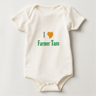 I Love Farmer Tans Baby Bodysuit