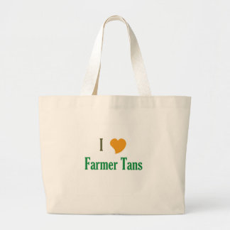 I Love Farmer Tans Large Tote Bag