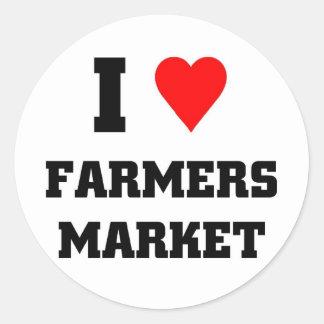 I love Farmers Market Classic Round Sticker