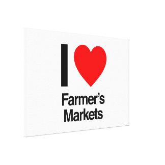 i love farmer's markets canvas print