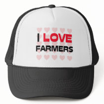 I LOVE FARMERS TRUCKER HAT