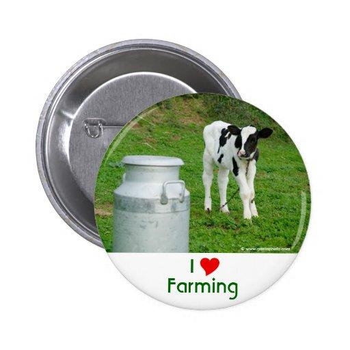 I Love Farming 2 Inch Round Button