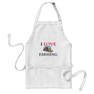 I Love Farming Apron