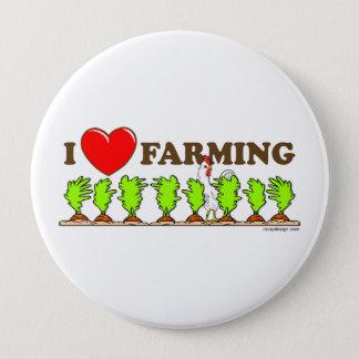 I Love Farming Button