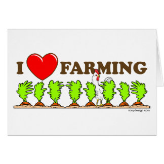 I Love Farming Card