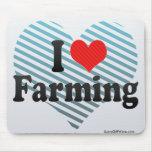 I Love Farming Mouse Pad
