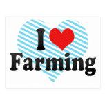 I Love Farming Post Card
