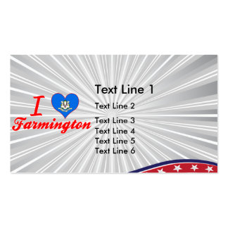 I Love Farmington, Connecticut Double-Sided Standard Business Cards (Pack Of 100)