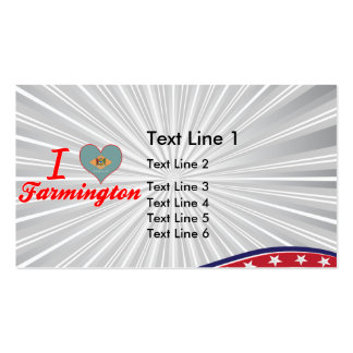 I Love Farmington, Delaware Double-Sided Standard Business Cards (Pack Of 100)