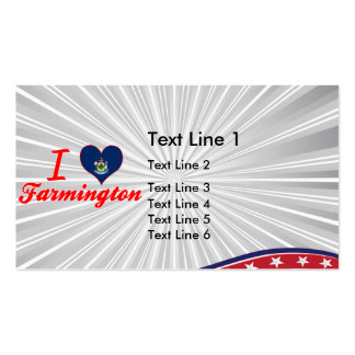 I Love Farmington, Maine Double-Sided Standard Business Cards (Pack Of 100)