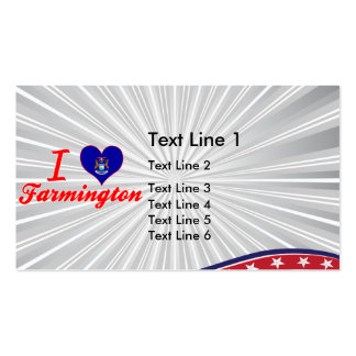 I Love Farmington, Michigan Double-Sided Standard Business Cards (Pack Of 100)