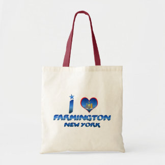 I love Farmington, New York Budget Tote Bag