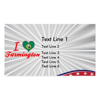 I Love Farmington, Washington Double-Sided Standard Business Cards (Pack Of 100)