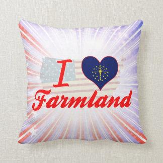 I Love Farmland, Indiana Pillows