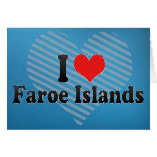 I Love Faroe Islands Greeting Card