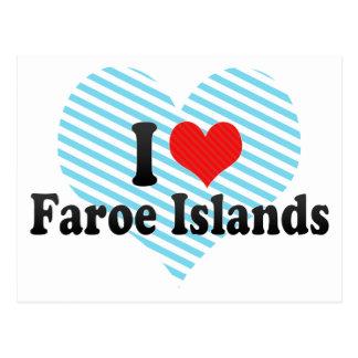 I Love Faroe Islands Postcard