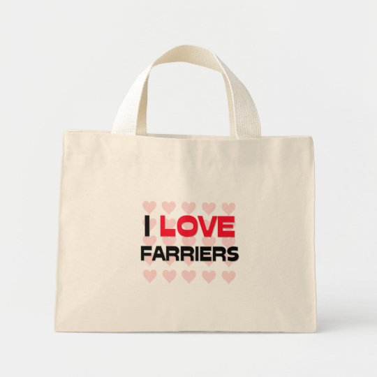 I LOVE FARRIERS MINI TOTE BAG
