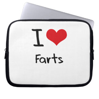I Love Farts Laptop Sleeve