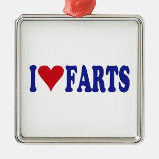 I Love Farts Metal Ornament